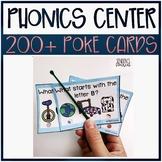 Alphabet Phonics Poke Task Cards
