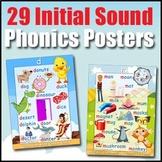 Phonics Poster Bundle - Initial Sounds - 4 Word Walls & Au