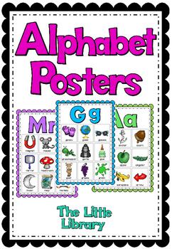 Phonics Poster Set Alphabet