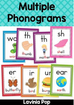 Phonics Anchor Charts: Multiple Phonograms Posters