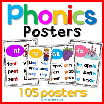 Phonics Posters 105 Sounds By Tiny Teaching Shack Tpt