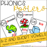 Phonics Sound Wall Posters: Alphabet from A-Z, Short Vowel