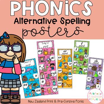 Phonics Posters Alternative Spelling - New Zealand Fonts