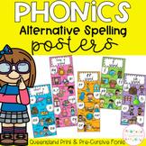 Phonics Posters Alternative Spelling - Queensland Fonts