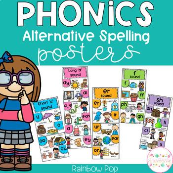 Phonics Posters Alternative Spellings RAINBOW POP