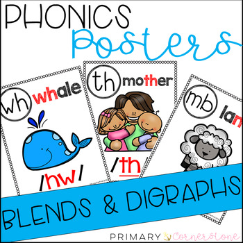 Phonics Sound Wall Posters: Blends and Digraphs