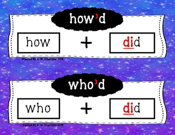 Phonics Posters - Contractions