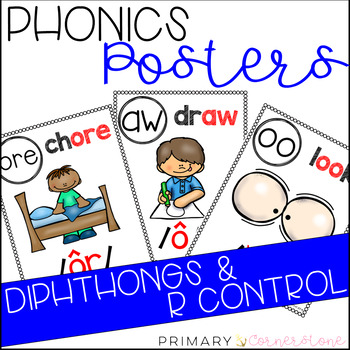 Phonics Sound Wall Posters: Diphthongs & R Control