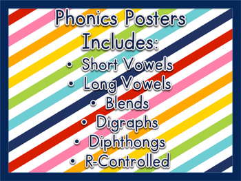 Phonics Posters {Includes Phonics Posters Mini-books}