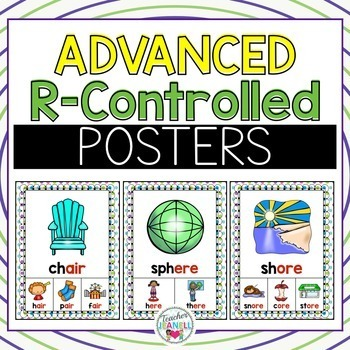 Advanced R-Controlled Vowel Posters