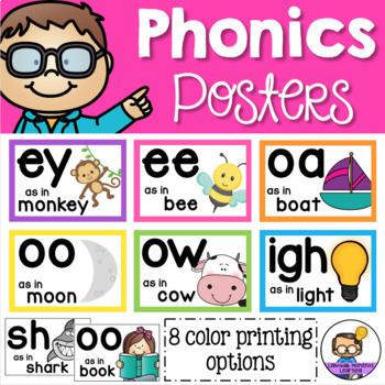 Phonics Posters - Vowels, Digraphs & Trigraphs