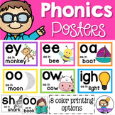 Phonics Posters Sound Wall - Vowels, Digraphs & Trigraphs