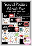 Phonics Posters - Speech Sounds EDITABLE
