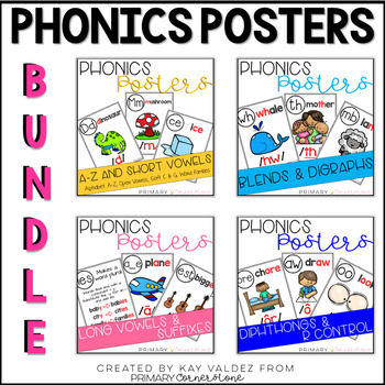 Phonics Sound Wall Posters: The Bundle