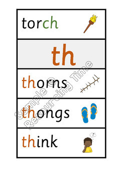 Phonics Posters / Word Wall Cards (Sassoon Primary Font)