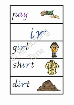 Phonics Posters / Word Wall Cards (Vic Modern Cursive)