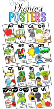 Phonics Posters and Cards Growing BUNDLE