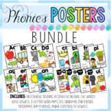 Phonics Posters and Cards - 4 different sets BUNDLE 600+ pages