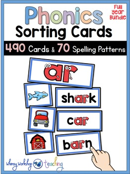 Phonics Posters and Sorting Cards Literacy Centers