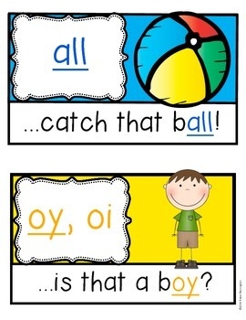 Phonics Posters {er, ow, oy, ay, ar, and more!} Diphthongs Kindergarten & First