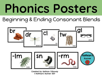 Phonics Posters for Consonant Blends