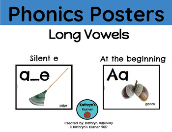 Phonics Posters for Long Vowels