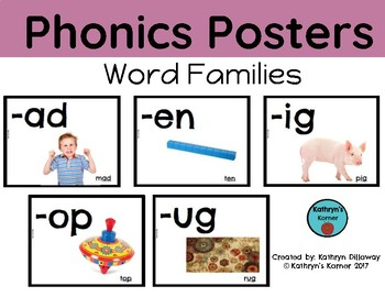 Phonics Posters for Word Families