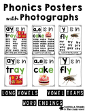 Phonics Posters with Photographs Long Vowels Vowel Teams Word Endings