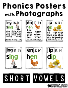 Phonics Posters with Photographs Short Vowels