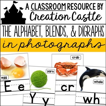 Phonics Posters with Real Photos - Alphabet, Blends, and Digraphs