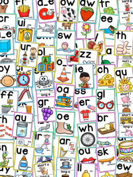 Phonics Posters with Watercolor backgrounds