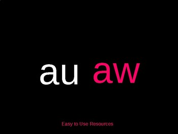 Phonics Interactive Power Point -aw,-au