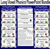 Phonics PowerPoint Lessons Short Vowels vs. Long Vowels--Bundle of 5 sets