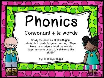 Phonics Powerpoint - Consonant + le