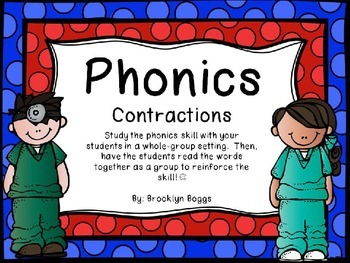 Phonics Powerpoint - Contractions ('s, 've, 're, 't, 'll)