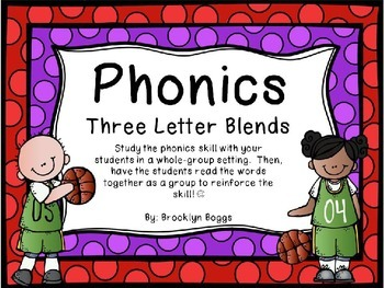 Phonics Powerpoint - Three Letter Blends