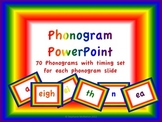 Phonics Powerpoints- Phonograms, blends, digraphs, alphabet timed and on-click