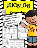 Phonics Practice-Beginning Sounds, Phoneme Segmentation, Blend to Read & More