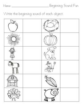 Phonics Practice - Black and White Printables