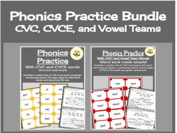 Phonics Practice Bundle - Long and Short Vowel Sounds