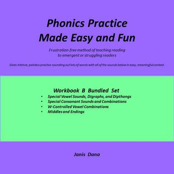 Phonics Practice:  Bundled Workbook B