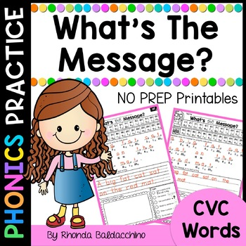 CVC Words ~ What's the Message?