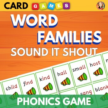 Phonics Practice Card Game - Sound it Shout with Welded So