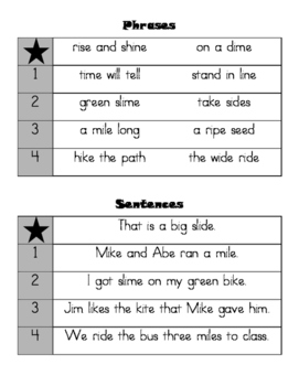 Phonics Practice - Long i Magic e (CKLA First Grade Skills Unit 2 Lessons 6-7)