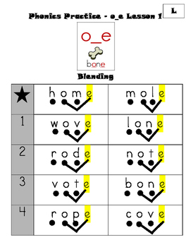 Phonics Practice - Long o Magic e (CKLA First Grade Skills Unit 2 Lessons 8-11)