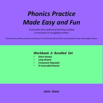Phonics Practice:  Bundled Workbook A