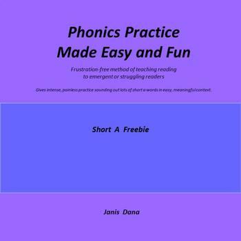 Phonics Practice Freebie:  Short A