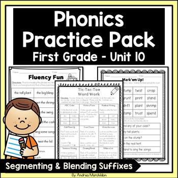 Phonics Practice Pack First Grade Unit 10 Segmenting & Blending