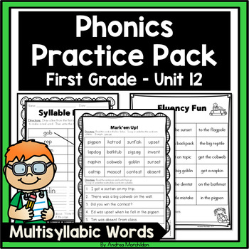 Multisyllabic Words Worksheets Teaching Resources Teachers Pay