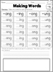 Phonics Practice Pack First Grade Unit 7 - ng & nk